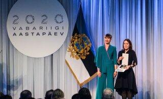 ГАЛЕРЕЯ | Президент Кальюлайд на церемонии вручения наград: благодарность никогда не надо откладывать на завтра