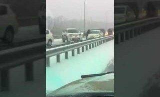 ВИДЕО: Под Владивостоком произошла авария с участием более 50 автомобилей