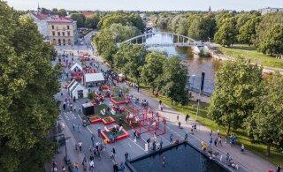 ФОТО | Дорогу пешеходам! В центре Тарту появился бульвар, свободный от машин