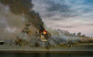 ФОТО и ВИДЕО   У берегов Сан-Диего второй день горит корабль ВМС США, пострадали 59 человек