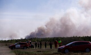 ФОТО И ВИДЕО | В Клоога горит 150 гектаров леса