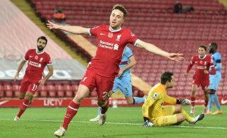 Vahetusmeeste toel raske võidu saanud Liverpool kerkis Premier League'is ainuliidriks