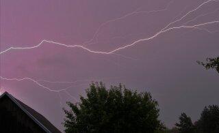 Ilmateenistus hoiatab öösel saabuva äikese, rahe ja tormi-iilide eest