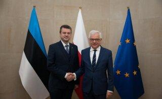 FOTOD   Reinsalu Varssavis: Poola on Eesti julgeoleku seisukohast üks võtmeriike