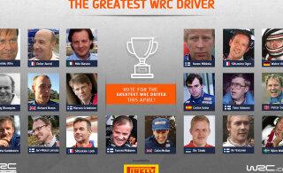 Kõik hääletama! WRC selgitab kõigi aegade parimat rallisõitjat, Tänak heitleb kvalifikatsioonis soomlasega