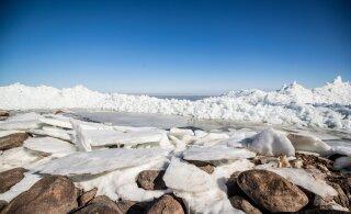 FOTOD | Rüsijää Peipsi ääres meelitab kokku vaatlejaid