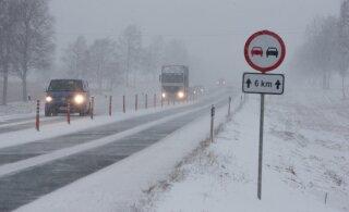 Põhja-Eestis sajab täna lund, Lõuna-Eestis ja saartel vihma