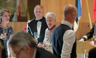 ГАЛЕРЕЯ: Первый день королевы Дании Маргрете II в Эстонии закончился праздничным ужином
