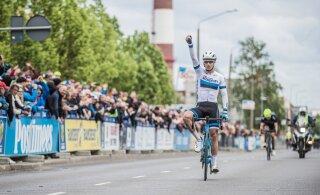 DELFI VIDEO | Tour of Estonia üldvõitja Mihkel Räim: eile ei pingutanud kordagi maksimaalselt, täna sain pingutada küll lõpus