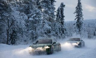 Porsche Taycan elektriline sportauto: eriti rõõmustab see talve üle!