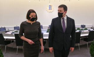 Ратас на встрече с Тихановской: мы поддерживаем народ Беларуси в борьбе за демократию