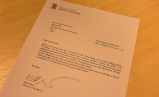 Министр Март Хельме ответил на письмо посла России