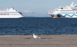 Два круизных лайнера уже вторую неделю стоят близ Таллинна. Что случилось?