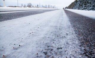 Департамент: на дорогах Эстонии опасность гололеда