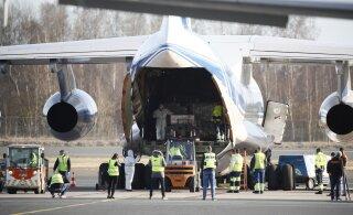 ФОТО | В Таллинн прибыл очередной российский самолет со средствами личной защиты