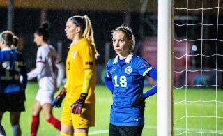 Эстонские футболистки пропустили 9 безответных мячей