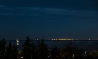 "ФОТО: Вчера вечером из Финляндии было ""видно"" Таллинн"