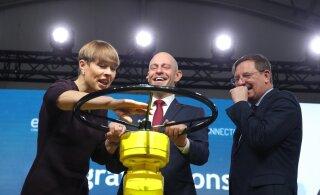 ФОТО | Президенты Кальюлайд и Нийнистё торжественно открыли эстонско-финский газопровод Balticconnector