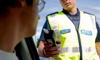 Как в канун Яанова дня: в воскресенье задержали полсотни пьяных водителей