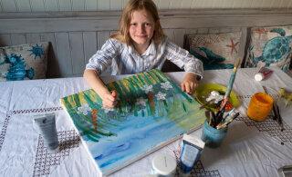 """10-летняя художница собрала более 55 тысяч евро на борьбу с раком. Ее называют """"мини-Моне"""""""