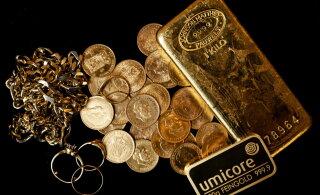Kuld viskus üle 2000 dollari taseme, kuid põrkas tagasi alla ümmarguse numbri