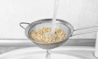 Kas riisi peaks enne keetmist loputama?