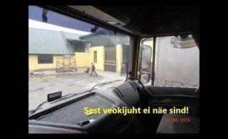 Vastuoluline pimenurk: veokijuht võib, aga ei pruugi näha sõiduautot ega jalakäijat!