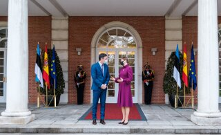 ФОТО | Президент Кальюлайд обсудила в Мадриде с руководством Испании борьбу с COVID-19