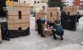 Эстонский водитель попался в Испании с контрабандой на 500 000 евро