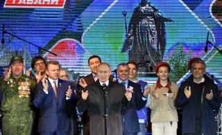 Viis aastat Krimmi annekteerimisest. Putin avas pidupäeval sanktsioonide kiuste ehitatud elektrijaama ning võttis kaasa pommitajad