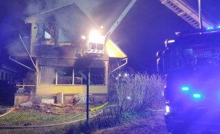 ФОТО и ВИДЕО | В страшном пожаре в Тарту погибла семья из пяти человек: отец, мать и трое детей. Шансов на спасение не было