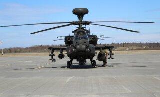 ФОТО: На базе Эмари приземлились пять британских военных вертолетов
