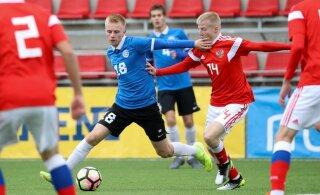 Eesti U19 jalgpallikoondis sai Venemaalt korraliku sauna