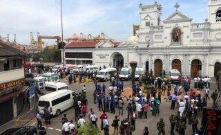 Sri Lanka ägab pommiplahvatuste laine all, rünnati mitut hotelli ja kirikut
