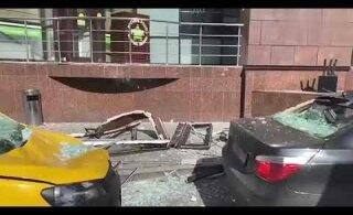 ВИДЕО | В здании бизнес-центра в Москве произошел взрыв
