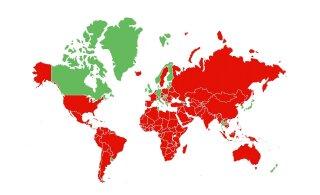 КАРТА | Не забудьте: с сегодняшнего дня самоизоляция требуется приехавшим в Эстонию из 19 стран Европы