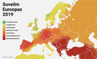 КАРТА | Синоптики обещают Европе теплое лето. И Эстонии?