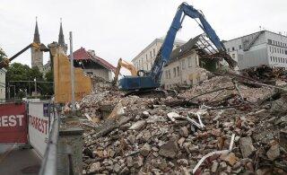 VIDEO ja FOTOD | Luise tänava ajalooline koolimaja on lammutatud rusudeks