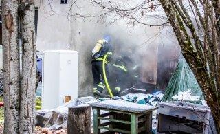 В Рапла при пожаре погиб человек