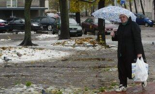 На выходных нас ждет снег, но, к сожалению, мокрый
