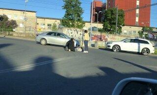 ФОТО: В Тонди автомобиль сбил велосипедиста