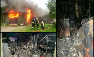 Дом бывшего игрока сборной Эстонии сгорел после попадания молнии