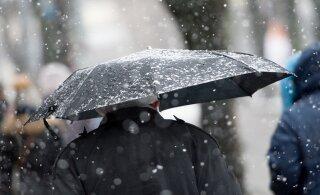 На Эстонию надвигаются дожди и мокрый снег