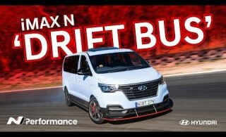 VIDEO | Ka minibuss võib äge olla: Hyundai näitas 300 kilovatise võimsusega driftibussi