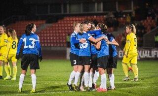 Naiste jalgpallikoondis kohtub kahel korral Valgevenega