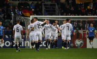 ГАЛЕРЕЯ | Эстония проиграла Германии: удаление немецкого защитника на 15 минуте не помогло