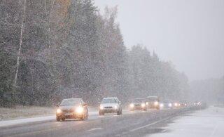 Ennelõunal sajab Lääne- ja Kesk-Eestis kohati lund