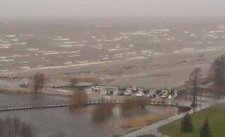 ФОТО | Кто паркуется на берегу моря во время шторма?