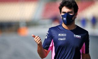 Koroonast vabanenud Sergio Perez istub Barcelonas tagasi rooli