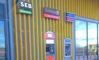 ФОТО | Весьма странно! Вывеска SEB выше всех конкурентов, а банкомата нет